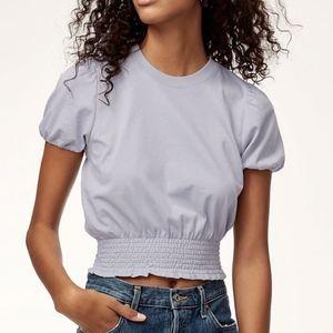 NWT Aritzia Leandre T-shirt Ruffle Cap Sleeve Xs